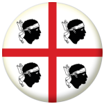 Sardinia Flag 58mm Button Badge